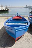 Boat on beach. Monopoli. Apulia.