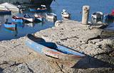 Boats moored in port. Giovinazzo. Apulia.