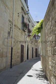 Alleyway in Molfetta Oldtown. Apulia.