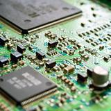 Detail of the front of a printed circuit board