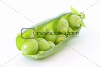 Green pea in stuffed pod