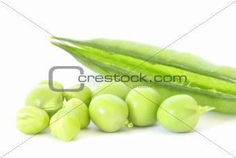 Green pea in stuffed pod