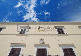 Ancient palace in Bari Oldtown. Apulia.