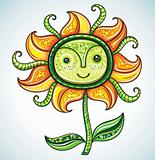 Cute friendly Eco flower,