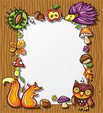 Autumnal wooden frame