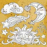 Celestial symbols: 1