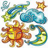 Celestial symbols: 2