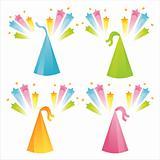 birthday hats with splashes