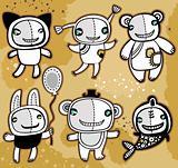 Cute vector toys
