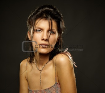 portrait of caucasian woman
