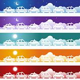 Taxi Cab Banner Set