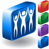 Teamwork 3D Icon