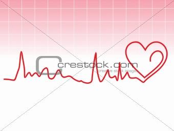 abstract heart beat