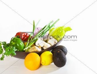 assorted vegetables and fruits