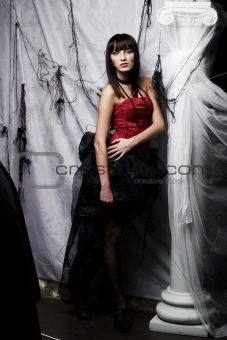 Beautiful vampire, Halloween party