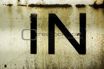 Old Sign - Abstract Rusty Metal Texture