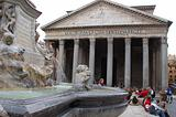 Fountain and Pantheon - Rome