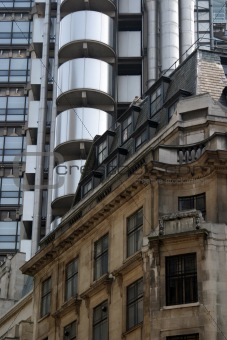 Old and new architecture in the City of London