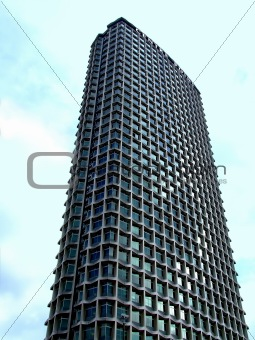 Skyscraper with square windows