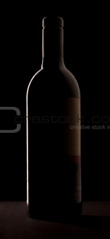 Winebottle outline