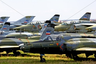 abandoned jet fighters