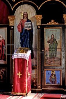 altar in monastery