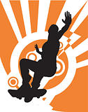 Skateboarder (Vector)