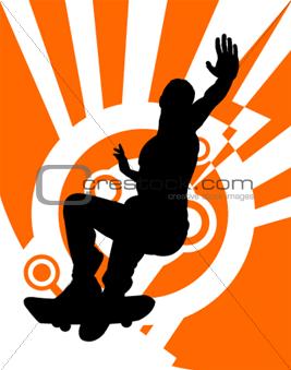 Skateboarder (Vector)