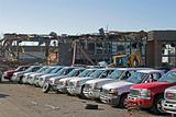 car dealership destroyed  7