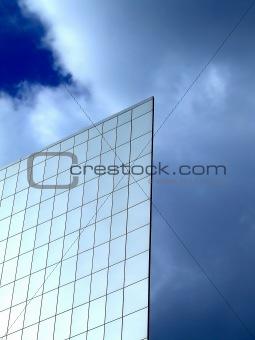 Flat wall on a sky