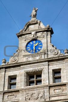 City Hall Clock In Leipzig, Germany