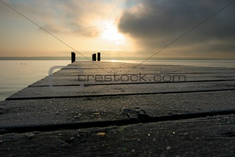 stage with sunrise