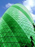 The Gherkin building alone green