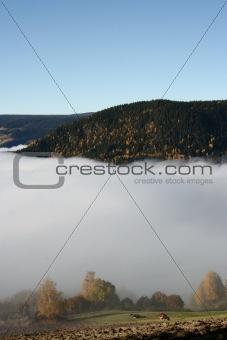 Fog over Valdres