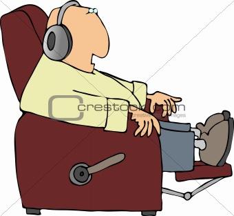 Man in a recliner