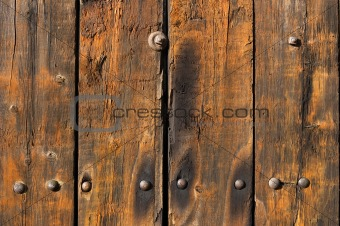 Old weathered and worn wooden planks
