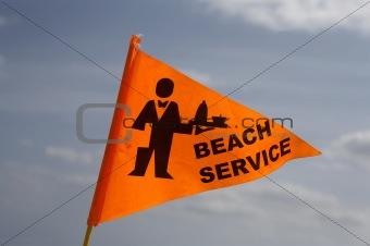 Beach service flag