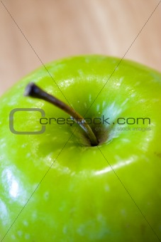 Close up on a Green Apple