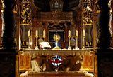 an altar in a maltese catholic church