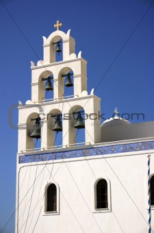 Church Bells, Santorini, Greece