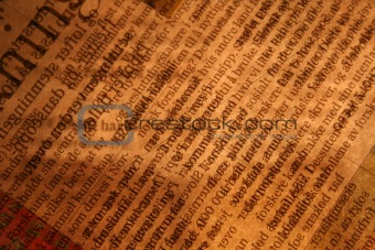 Backlit newspaper