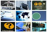 collage transportation theme