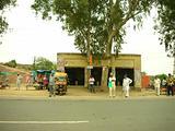 village bus stop- india