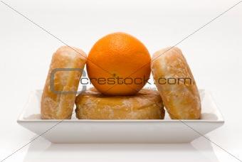 donuts and orange