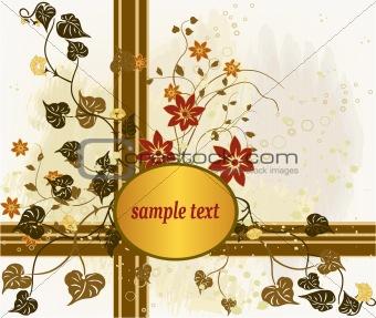 Abstract art floral design background vector illustration