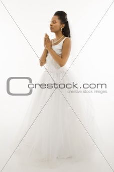 Praying bride.