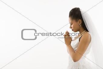 Praying bride.