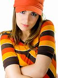 Woman with a orange hat