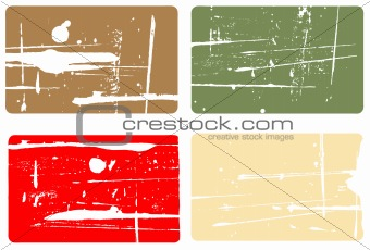 Grunge elements - 4 Business Cards
