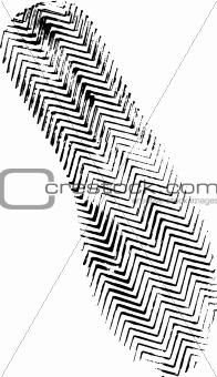 Single black fingerprint - simple monochrome image
